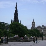 Edinburgh's old town, near the site of the fires
