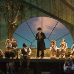 Karl Hanover (Mole) and the ensemble in SSC's 2008 holiday production of The Wind in the Willows. Photo: r.r. jones