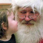 Riley Whelan, 2, and Santa