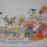 Early drawing of the Cal Poly Float