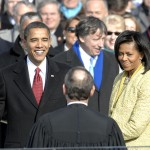 President Obama during the flubbed Oath of Office
