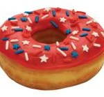 Stars and Stripes Donut, available at Dunkin' Donuts