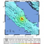 Earthquake Intensity Map, USGS