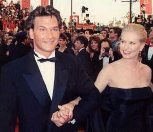 Patrick Swayze and wife Lisa Niemi