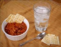 Chili crackers and Water - (CDC/James Gathany) PD
