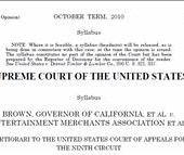 Supreme Court rules against California Video Game Ban to Minors