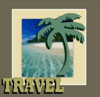 palm tree and ocean travel - DNR