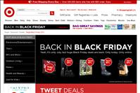 screenshot of Target.com/blackfriday