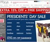 Macy's Presidents Day Sale 2012 is going on this weekend February 15 – 20