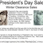 President's Day Sale History