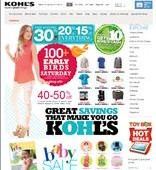 Kohl's Presidents' Day Sale 2013 – Extra Cash Bonus and Discounts Offered this Weekend