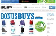 Kohl's website screenshot of 2013 Columbus Day Sale Event