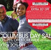 Columbus Day 2013 - Macy's Offers Shoppers Sales Throughout Their Entire Department Store