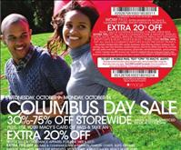 Macy's Ad Circular for Columbus Day Sale 2013