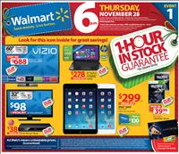 Screenshot of Walmart Black Friday Sales Ad Circular 2013